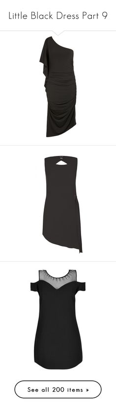 """""""Little Black Dress Part 9"""" by leanne-mcclean ❤ liked on Polyvore featuring plus size women's fashion, plus size clothing, plus size dresses, sexy one shoulder dress, sexy stretch dress, stretch dress, city chic dresses, lined dress, asymmetrical hem top and cut out top"""