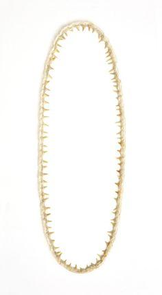 Babette Boucher - Aber Großmutter was hast du für ein entsetzlich großes Maul!, 2009  Necklace. Shark teeth, lace, cord