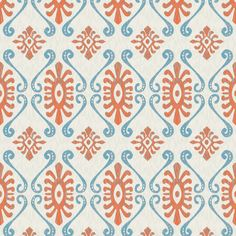 Beach Ikat seamless home textile pattern designed by Nikky Starrett Available for sale at www.nikky.ca