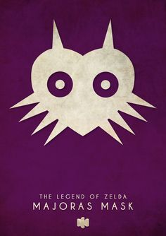 Minimalist Poster Designs of #N64 Games by Timmy Burrows. The Legend of #Zelda Majoras Mask. #Art