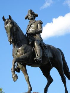 The largest statue of George Washington, found in Boston Commons, Boston, MA