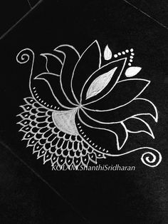 More                                                                                                                                                                                 More Simple Rangoli Designs Images, Beautiful Rangoli Designs, Kolam Designs, Henna Designs, Blouse Designs, Lotus Rangoli, Diwali Rangoli, Easy Rangoli, Small Rangoli