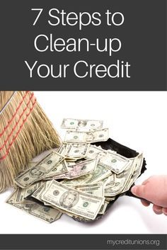 "How to cleanup your credit report | 1. Keep balances low on credit cards and other ""revolving credit"". 2. Pay off debt rather than moving it around.  3. Don't close unused credit cards as a short-term strategy to raise your scores. 4. Don't open a number of new credit cards that you don't need, just to increase your available credit."