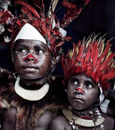 Boys dressed up for the two days Goroka show, Papua New Guinea, by Jimmy Nelson