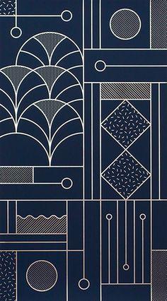 Line art design, geometric pattern design, geometry pattern, pattern print, Line Art Design, Design Web, Art Deco Design, Shape Design, Texture Design, Book Design, Design Ideas, Motif Art Deco, Art Deco Pattern