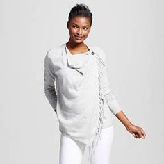 Size small--Women's Wrap Front Cardigan with Fringe - Knox Rose™ : Target
