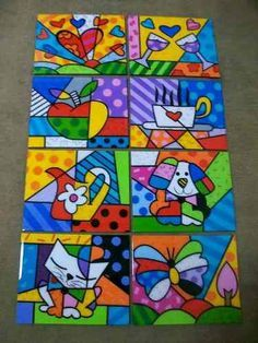 Love this pop art Arte Country, Ecole Art, Middle School Art, Arte Pop, Art Plastique, Teaching Art, Elementary Art, Art Education, Painted Rocks