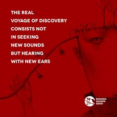 The real voyage of discovery consists not in seeking new sounds but hearing with new ears.  Drawing by Gustav Klim  #romania #techno #electronica #micro #house #romaniasoundsgood