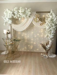 Quinceanera Decorations, Diy Birthday Decorations, Outdoor Wedding Decorations, Wedding Themes, Wedding Centerpieces, Diy Backdrop, Backdrop Decorations, Ceremony Backdrop, Backdrops