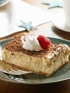 Tiramisu Mousse Cheesecake — Dessert faves from France (mousse), Italy (tiramisu) and the USA (cheesecake) collide in one spectacularly creamy recipe you serve up with a berry.