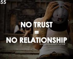 I have trust issues so it's hard for me to have a relationship. And when I do it's hard for me to maintain it because I don't trust people. Trust Me Quotes, Wisdom Quotes, Quotes To Live By, Life Quotes, Qoutes, Relationship Memes, Cute Relationships, Perfect Relationship, Busy Mom Quotes