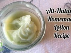 Homemade Lotion Recipe- all natural and easy to make