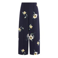 A summer shape if we ever saw one. These culottes are as stylish as they are comfortable, with a single pleat at the front and a floral print.