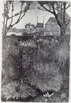 Fall Garden by Jan Mankes 1916 Forever Travel, Etching Prints, Black White Art, Garden Painting, Dutch Painters, Dutch Artists, Autumn Garden, Museum Of Modern Art, Les Oeuvres