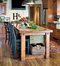 cabinet color and flooring <<<farmhouse kitchen dark wood cabinets>>>