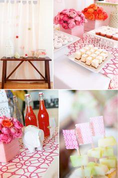 Süße Babyparty mit Pink und Orange | Friedasbaby.de Fotos via Karas Party Ideas