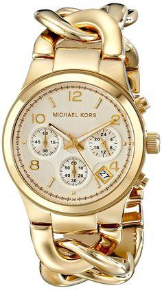 706c841896ab Michael Kors Golden Watch Colorful Bracelets
