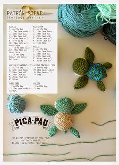 Dony's Creations : Tartaruga marina _ Pattern free