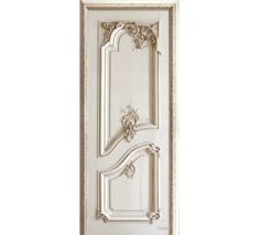 Left door with Haussmann style panelling. Trompe l'oeil wall decor by Koziel. Made in France.
