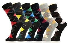 Fashion Mic Men's Dress Socks Mutiple Style Composition: Cotton, Polyester, Spandex You will be receiving 4 Assorted Pairs Socks Size 1 inch ankle band for easy adjustments Trouser Socks, Dress Socks, Stripes Design, Fashion Dresses, Pairs, Glove, Cotton, Gifts, Clothes