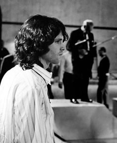 """thewallsscreamedpoetry: """" new pic of Jim- The Nelson Riddle Orchestra is in the background as Jim Morrison, the lead singer of the Doors, rehearses for """"The Smothers Brothers Comedy. Beatles, Ray Manzarek, Morrison Hotel, Jimmy Morrison, Van Morrison, Jazz, The Doors Jim Morrison, Vampire Weekend, American Poets"""