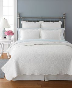 CLOSEOUT! Martha Stewart Collection Damask Trace White Standard Sham