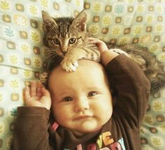 Kid With A Cat Click for more great photos #cutecats #cats