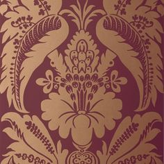 5003734 Schumacher Wallpaper pattern name Montebello Damask. Mahones Wallpaper Shop only sells quality no second hand materials with full manufacturer guarantee. Brick Wallpaper, Wallpaper Panels, Wallpaper Decor, Wallpaper Roll, Pattern Wallpaper, Classic Wallpaper, Luxury Flooring, Pattern Names, Schumacher