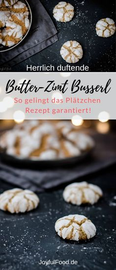 Ad - recipe for super yummy butter cinnamon busserl. Crunchy cookies are not . Ad – recipe for super yummy butter cinnamon busserl. Crunchy cookies not just for Christmas or Advent. The biscuits also taste good during the year. Cinnamon Biscuits, Cinnamon Cookies, Easy Smoothie Recipes, Healthy Smoothies, Homemade Frappuccino, Food Shows, Cookie Recipes, Food And Drink, Brunch