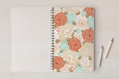 Tropical garden Notebooks by Ana de Sousa at minted.com #art #journal #notebook #school #class #girl #flower #pattern #teen #escuela #clases #escola #clases #caderno #cuaderno #orange #stationery #minted #portuguese #madeira