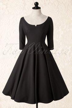 Glamour Bunny Serena Black Swing Dress 102 10 16207 20150917 0013pop2