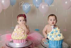 Happy 1st Birthday to two very special little twins ~ Sailah and Kees!These two were my very first twin newborn shoot and its been lovely watching them grow up and getting even cuter! They had so much fun and loved getting messy, not so much their parents and I though. Congratulations…