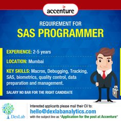 Requirement for #SASProgrammer