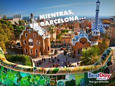 Acogedor y benigno, el tiempo en Barcelona es cálido, y por eso la ciudad vive de puertas afuera. Visita #Barcelona y vive un #BestDay #OjalaEstuvierasAqui :D