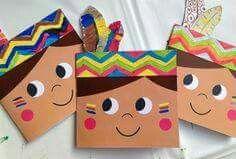 Make your own birthday cards for little kids święto dziękczynienia, rzemios Kids Crafts, Fall Crafts, Holiday Crafts, Diy And Crafts, Paper Crafts, Anniversaire Cow-boy, Birthday Invitations, Birthday Cards, Art Birthday
