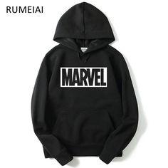 RUMEIAI Brand 2017 New Women/Men's Casual Marvel Print Hedging Hooded Fleece Sweatshirt Hoodies Pullover clothing Size M-XXL