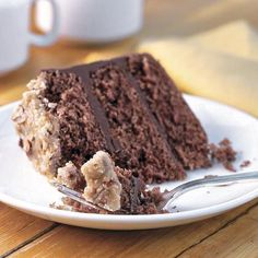 Cake of the Week: Bourbon-Chocolate Cake with Praline Frosting | MyRecipes.com
