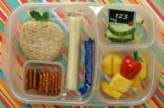 Lunch Idea:  Apple theme (Perfect for Back to School or Teacher's Week)
