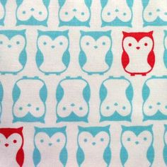 Novelty Cotton Fabric- Owls In A Row, , hi-res