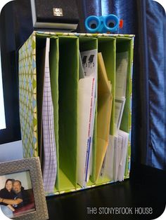 Mail organizer from guess what recyclable material! Cardboxes.. (friday fun party feature)
