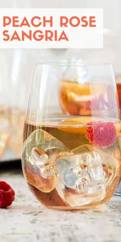 Whip up a pitcher of this easy and refreshing Peach Rosé Sangria for your next summer BBQ. It's the perfect make-ahead batch cocktail recipe.