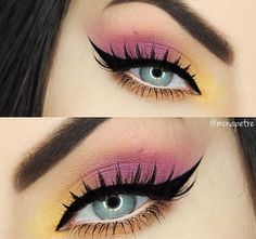 Artist palette: phresh (inner corner), punch fuchsia to smoke it out then orange you fancy for water line/bottom lash