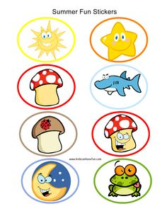 Summer Fun Stickers
