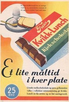 Kvikk Lunsj – The Ultimate Norwegian Hiking Snack Hot Chocolate Sauce, Chocolate Recipes, Logo America, Emoji, Vintage Advertisements, Ads, History Of Chocolate, San Francisco, Lost In The Woods