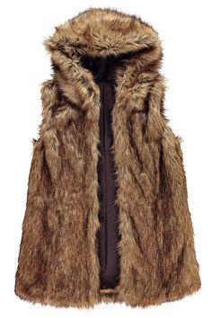 Robin Hooded Faux Fur Gilet alternative image
