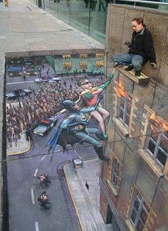 guys cool sidewalk chalk illusions julian beever