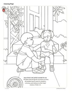 primary 2 manual lesson 40 i can forgive others journal page print it here - I Can Be A Friend Coloring Page