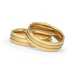 Moderne Trauringe. Außergewöhnliche Eheringe und einzigartige Hochzeitsringe in 585 Gold