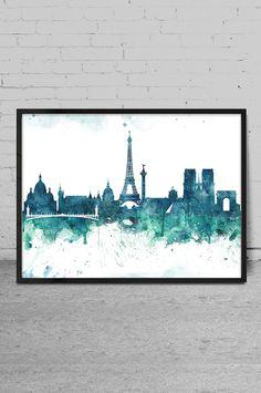 Watercolor Art print PARIS Paris Art Print Wall Art by MyVisualArt