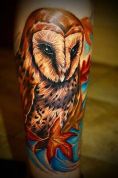 Amazing owl tattoo